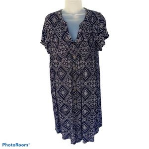 Knox Rose Short Sleeved Geo Dress Black White L